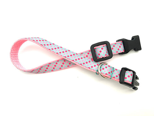 Polka Dot Dog Collar & Leash