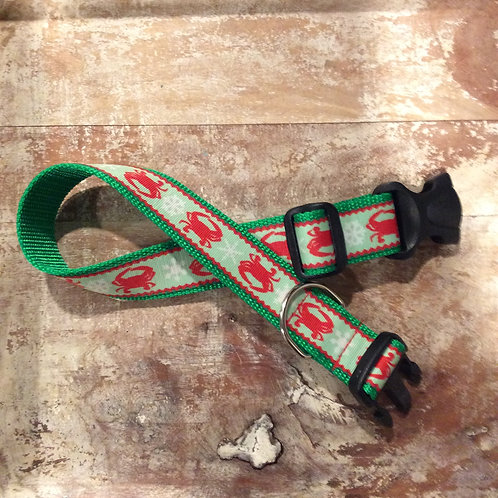 1 1/4 inch Crabs for Christmas Dog Collar or Leash