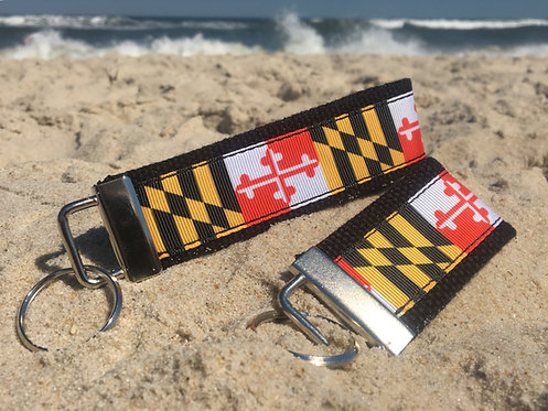 Traditional Maryland Flag Key Chain