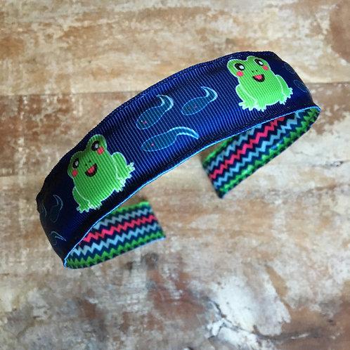 Kawaii Frog and tadpole headband