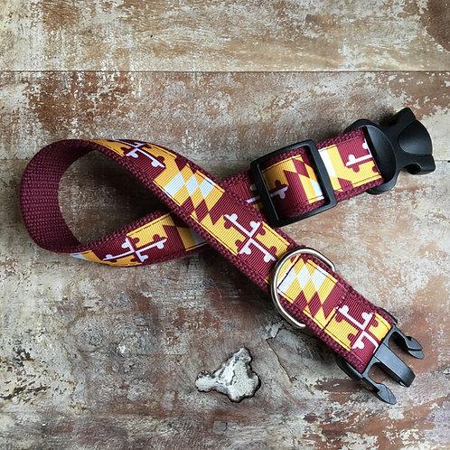 Redskins Maryland Flag Dog Collar & Leash
