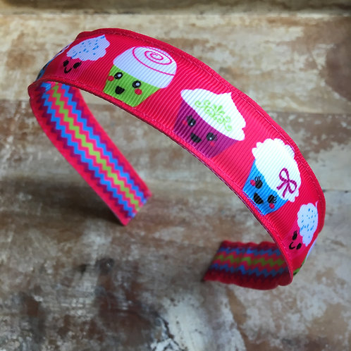 Reversible Kawaii Cupcake headband