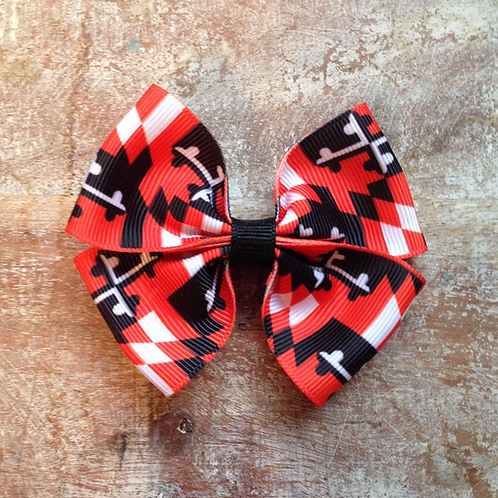 Orioles Maryland Flag Hair Bow