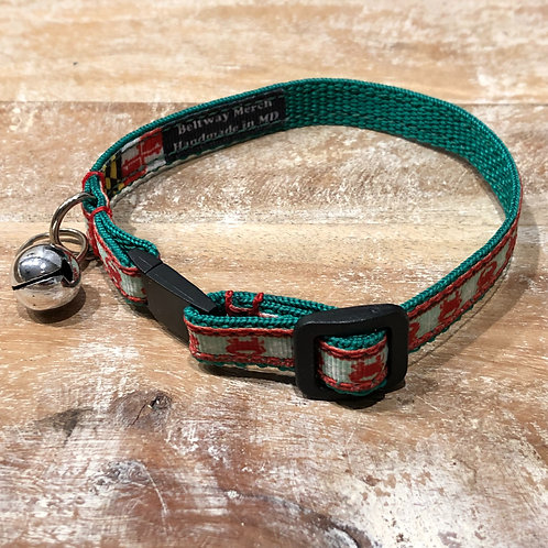Crabs for Christmas Cat Collar