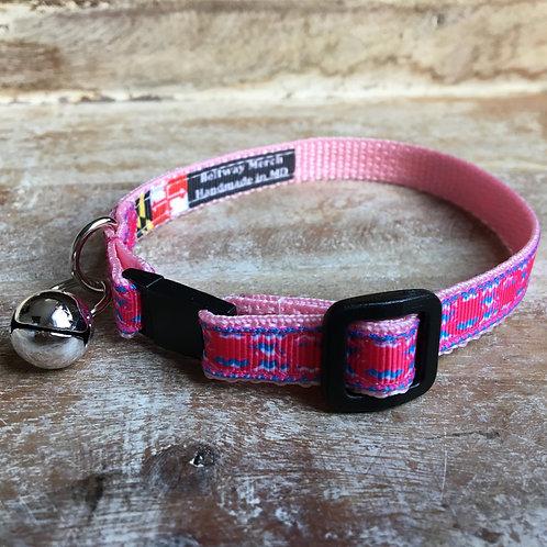 Hot Pink Crab Cat Collar
