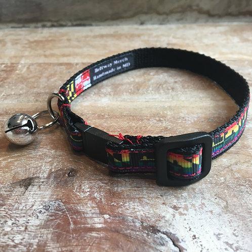 Rainbow Maryland Flag Cat Collar