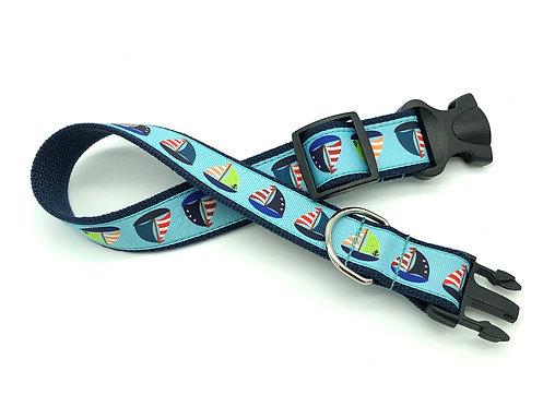 colorful sailboat dog collar