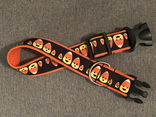 Candy Corn Dog Collar or Leash
