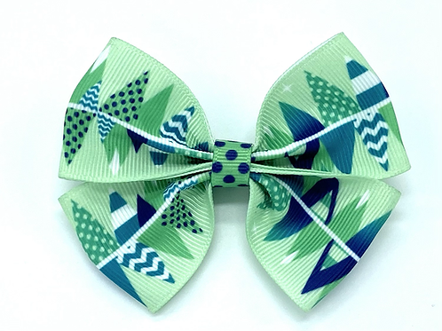 Christmas Tree Forest Dog Bow Tie