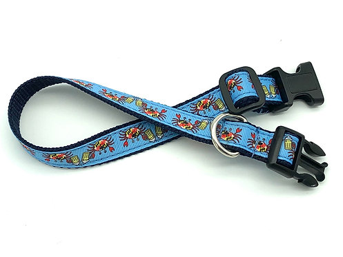 Cheers! Crabs & Beer Dog Collar