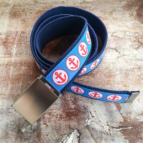 Coral Anchor handmade belt
