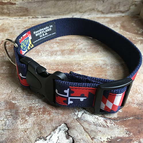 Capitals Maryland Flag Dog Collar & Leash