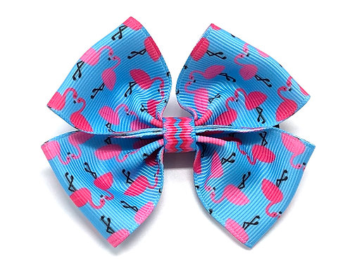 Pink Flamingo Dog Bow Tie