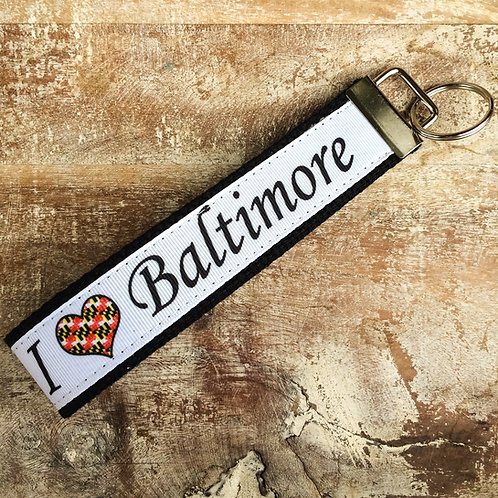"""I Love Baltimore"" Key Chain"