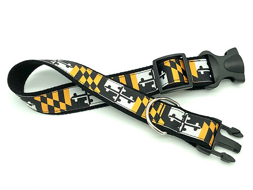 Towson Tigers College Maryland Flag dog collar