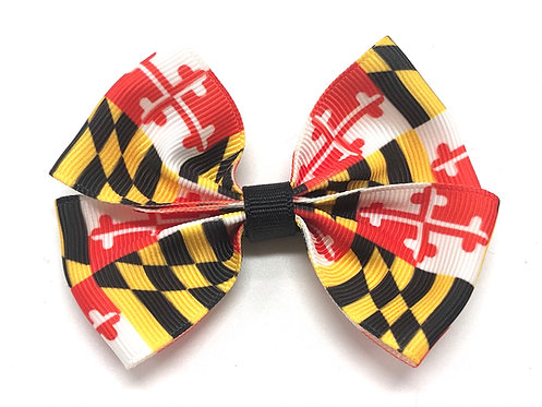 Traditional Maryland Flag Dog Bow Tie