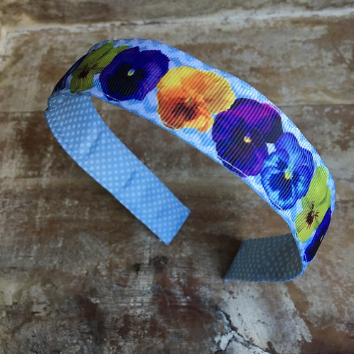Pansies Headband