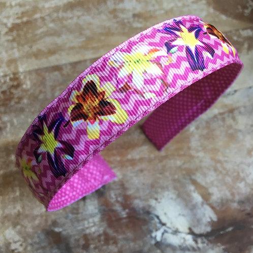 purple daylily flower headband