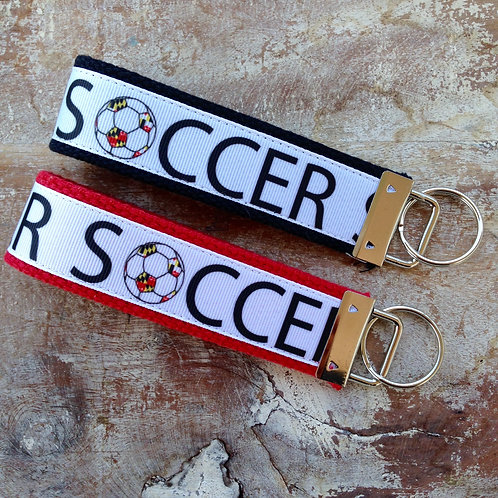 Maryland Flag Soccer Key Chain