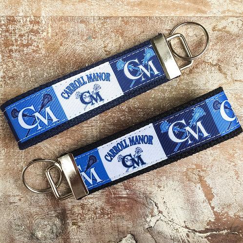 Carroll Manor Lacrosse Key Chain