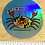 "Thumbnail: ""I ❤️ Maryland"" Happy Maryland Flag Crab Holographic Sticker"