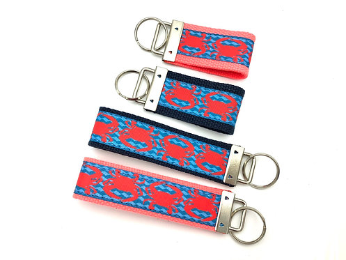 Coral Crab Wave Key Chain