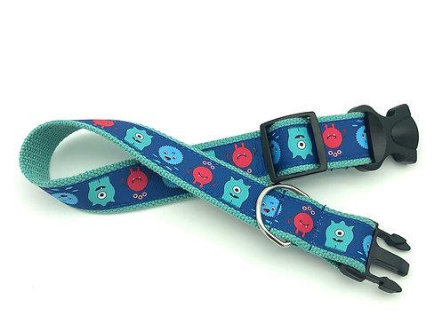 "1 1/4"" Little Monsters Dog Collar & Leash"