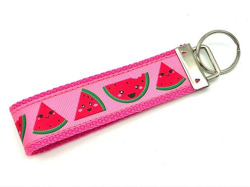 happy kawaii watermelon key chain keyfob