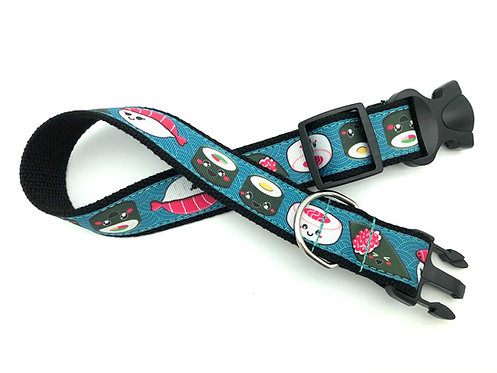 1 1/4 inch Sushi Dog Collar or Leash