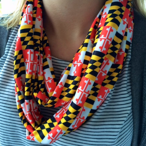 Traditional Maryland Flag Infinity Scarf