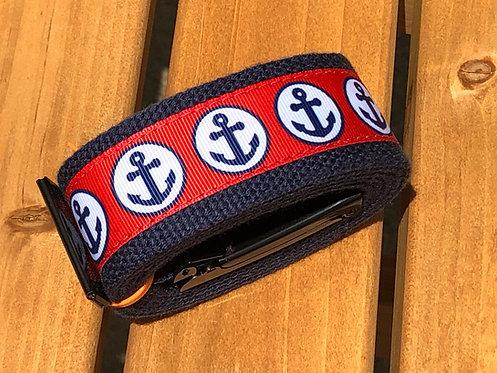 Navy & Red Anchor Belt