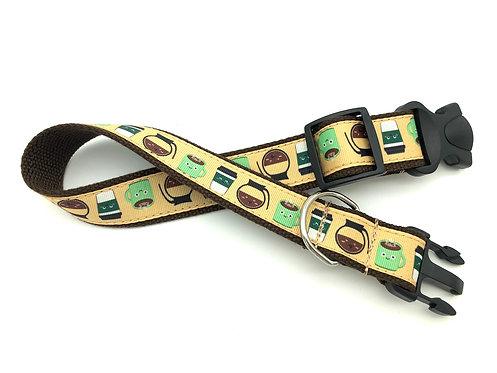 *Bucks Coffee Dog Collar & Leash