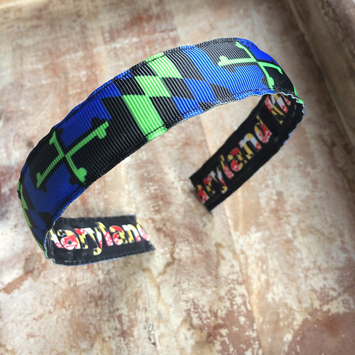 Blue & Green Maryland Flag Headband