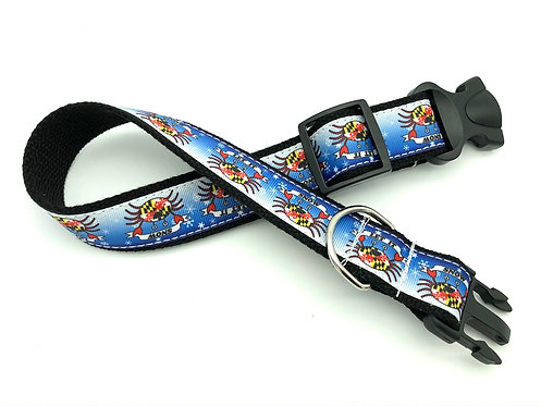 """LET IT SNOW"" Crabs Dog Collar & Leash"
