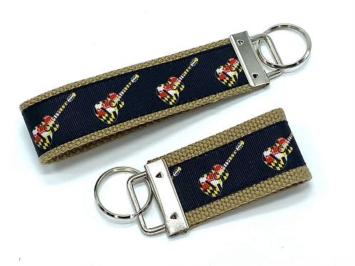 Maryland Flag Guitars Key Chain