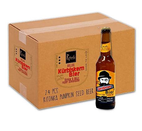 "24er Ritonka Gentlemen Bier ""Blond"" Karton"