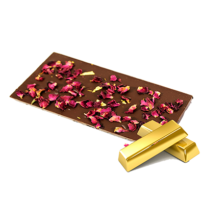 Ritonka bitter Schokolade - 23k Gold, Rose