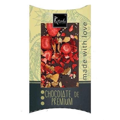 Ritonka Bitterschokolade - Pflaume, Erdbeere, Walnuss