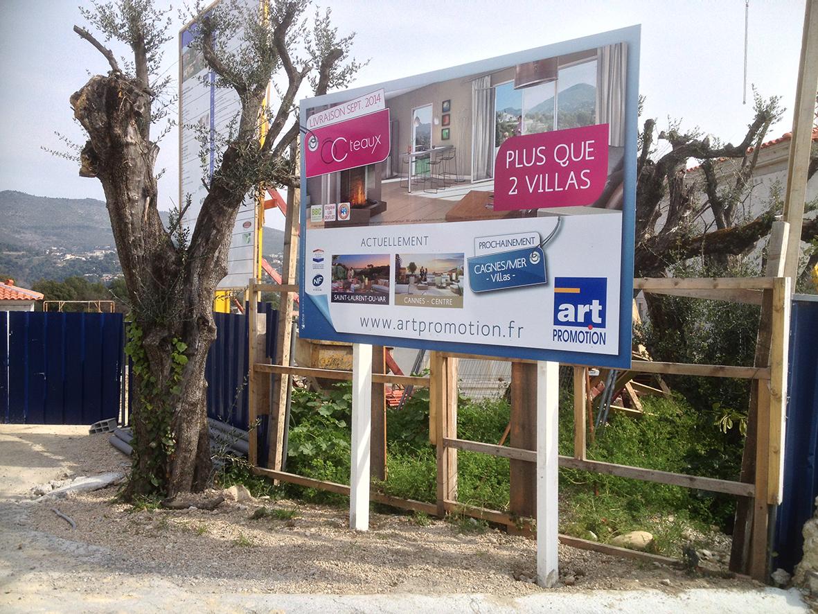 Panneaux immobilier