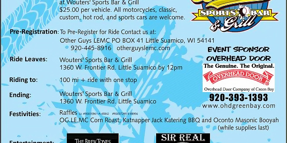 7th Annual: A Ride To Advocate Saturday, August 14th, 2021 PUBLIC WELCOME, RAIN OR SHINE!