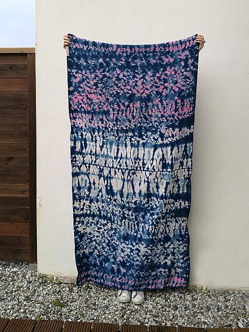 Fouta multicolors blue