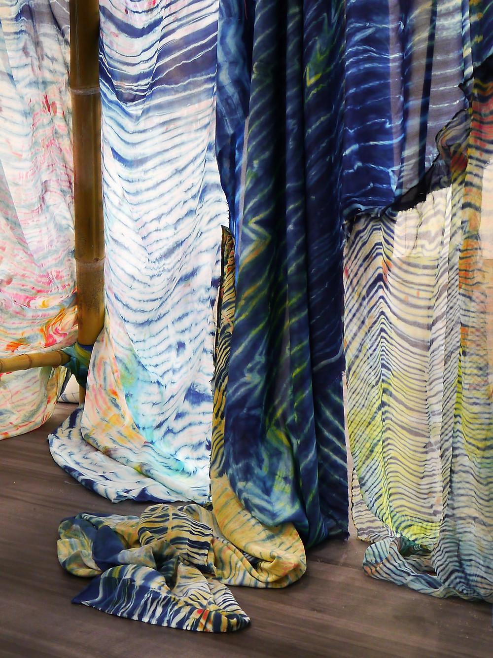 art textile - tissus teints par laure marnas