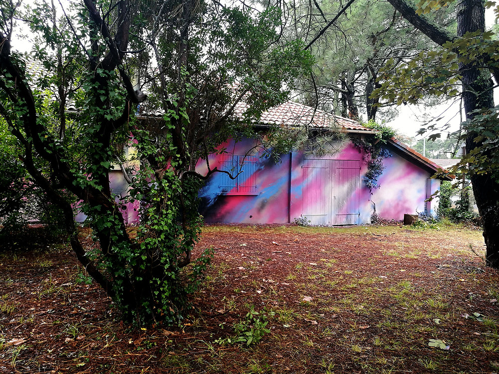 Mariotte lorcolors peinture murale  street art hossegor landes