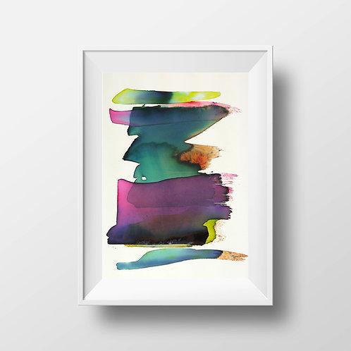 Aquarelle - laure Marnas - abstractart - couleurs - seignosse