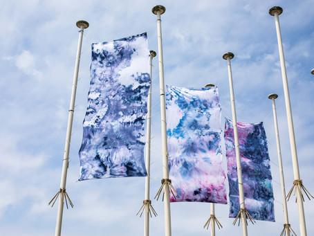Installation textile pour le Little festival 20/22 Juillet 2017 à Seignosse / Hossegor