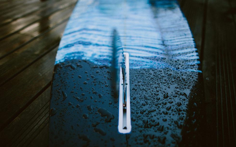 Détail longboard lorcolorschappy / Photographie Céline Hamelin