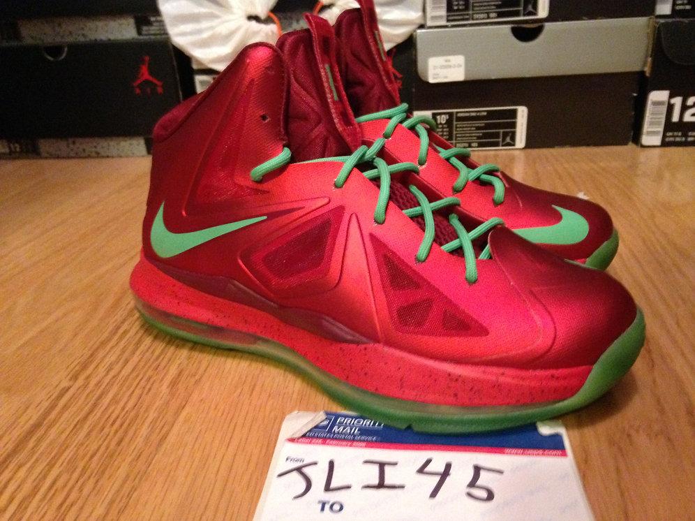 Lebron Christmas 10.Nike Lebron 10 X Christmas Day Size 7y