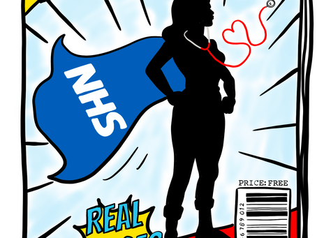 NHS Real Heroes - Sketchnote