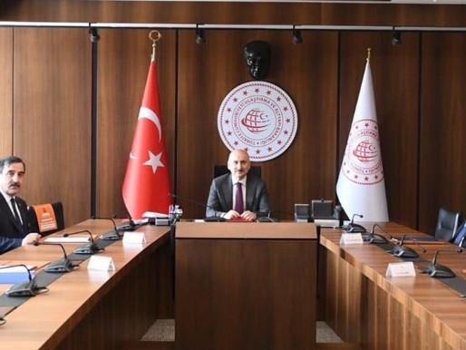 Ulaştırma ve Altyapı Bakanı Adil KARAİSMAİLOĞLU'na hayırlı olsun ve teşekkür ziyaretinde bulunduk.