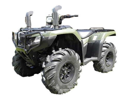 quading actively two at to parked best atvs side on atv the honda by and farmers riders stable horses listening canada foreman